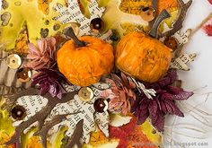 Layers of ink - Leafy Pumpkin Tag Tutorial by Anna-Karin