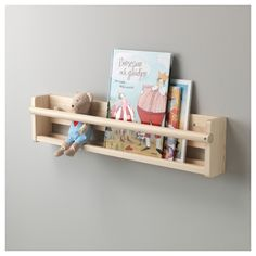 Your child can easily find that favorite book, as the wall storage has an open front. If you hang the wall storage at a child-friendly height, it's easy for your child to reach their favorite book for story time. Made of solid wood Ikea Storage, Storage Hacks, Wall Storage, Book Storage Kids, Record Storage, Cube Storage, Wall Bookshelves Kids, Bookshelf Design, Ikea Spice Racks As Book Shelves