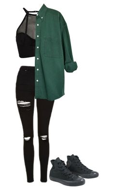 """Untitled #223"" by okokxtucker ❤ liked on Polyvore featuring Topshop and Converse"