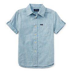 Chambray Short-Sleeve Shirt - Boys 2-7 Sport Shirts - RalphLauren.com