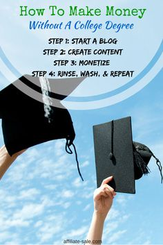 How to make money without a college degree.. Simply said, blogging is the way to go!