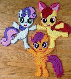 Cutie Mark Crusaders - My Little Pony perler beads by OddishPonyGirl