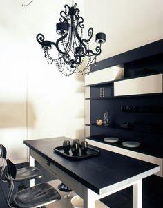 decoración e interiores negro florencia Estilo minimalista Diseño de ...