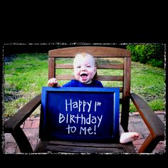 Don't forget a keepsake photo! This could become a #birthday tradition...