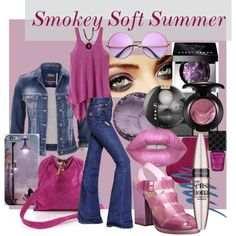 Smokey Soft Summer by prettyyourworld on Polyvore featuring prAna, maurices, Sonia Rykiel, Steve Madden, Nine West, Bobbi Brown Cosmetics, Lime Crime, MAC Cosmetics, Bourjois and Maybelline