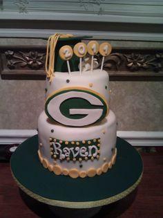 "Greenbay Packers ""Graduate"" cake ~ LOL"