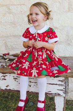your girls in our sweet Peter Pan collar dress with gingerbread . Equip your girls in our sweet Peter Pan collar dress with gingerbread .,Equip your girls in our sweet Peter Pan collar dress with gingerbread . Little Girl Christmas Dresses, Toddler Christmas Dress, Kids Christmas Outfits, Christmas Costumes, Christmas Fashion, Cute Outfits For Kids, Little Girl Dresses, Toddler Dress, Holiday Dresses