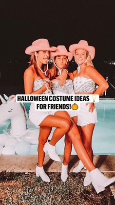 Friend Costumes, Team Costumes, Cute Costumes, Costume Ideas, Girl Group Halloween Costumes, Hallowen Costume, Halloween Outfits, Costumes For Three People, Trendy Halloween