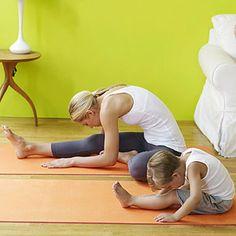 Yoga for Better Behavior Energy Burner: Kissy Knee! Love the names!