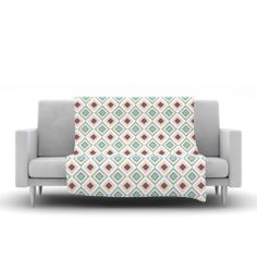 "Empire Ruhl ""Hip Diamonds"" Diamond Pattern Fleece Throw Blanket | KESS InHouse"