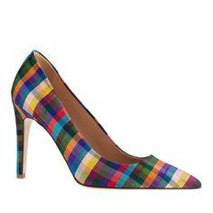 Falsetto plaid pumps - pumps & heels - Women's shoes - J.Crew