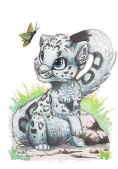 Snowleopard by ~Kamirah on deviantART