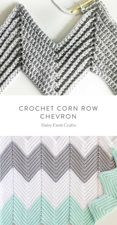 Discover thousands of images about Free Pattern - Crochet Corn Row Chevron Chevron Crochet Blanket Pattern, Crochet Ripple Blanket, Zig Zag Crochet, Crochet Stitches Patterns, Crochet Baby, Knitting Patterns, Chevron Baby Blankets, Chevron Blanket, Crotchet Patterns