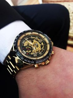 833d31affd3 Men s Sports Design Bezel Golden Watch.  watches  jewellery
