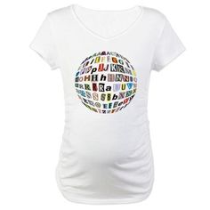 Letters Alphabet affixed to ball Shirt on CafePress.com
