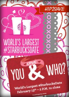 World's Largest #StarbucksDate Tomorrow From 2PM-Close = Special $5 Coffee + Treat Pairings & More