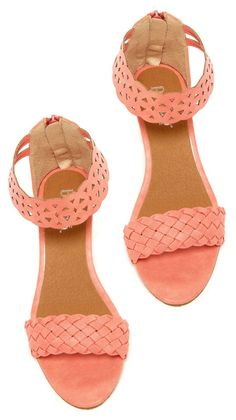 Light Coral Peach Sandals