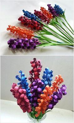 Swirled paper flowers