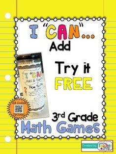 I CAN Add {3rd Grade Math Game} FREEBIE!!!