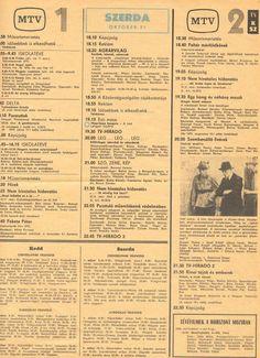 Régi műsorújság 1984. október 31.