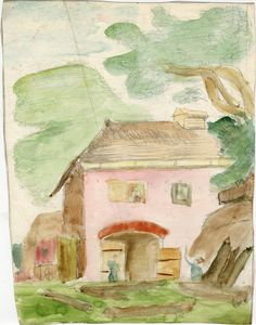 Dora Carrington Pink Barn, About 1901