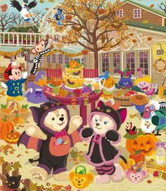 Duffy the Disney Bear discussion and information. Disney Dream, Cute Disney, Disney Art, Friends Wallpaper, Disney Wallpaper, Halloween 2013, Happy Halloween, Disney Films, Disney Characters