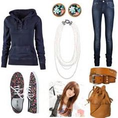 cute teen outfits for fall-winter school 2014 11 - April 27 2019 at Teen Fashion Winter, Tween Fashion, Fashion 101, Teen Fashion Outfits, School Fashion, Fall Winter Outfits, Cute Fashion, Look Fashion, Fashion Clothes