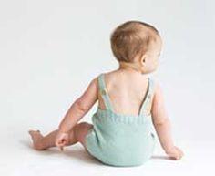 Ranita de punto, color verde menta, para bebe y recién nacido. Colección SS17. #ropabebe #modabebe #bebe #ranita