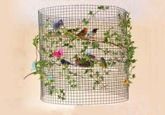 Birds in Cage My New Room, Bird Cage, Lamp Design, Lampshades, Diy Crafts For Kids, Diy Art, Diy Furniture, Diy Projects, Holiday Decor