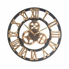 Mechanical Gears, Rustic Charm, Vintage Industrial, Decorative Accessories, Roman Numerals, Vintage Fashion, It Is Finished