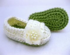 Baby Girl Shoes / Slippers Grey & Pink Jewel by AbitofLovely