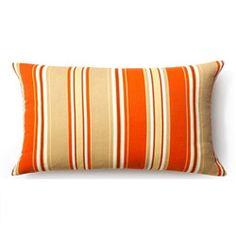 @Overstock - Pattern: Orange thick vertical stripes    Color options: Orange   Pillow shape: Rectanglehttp://www.overstock.com/Main-Street-Revolution/Jiti-Pillows-Orange-Thick-Stripes-Outdoor-Throw-Pillow/6006931/product.html?CID=214117 $54.99