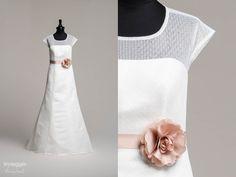 Pippa – Brautkleid in A-Form aus Tupfen-Tüll D-1151 - küss die ...