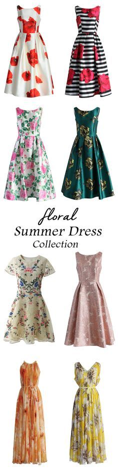 Floral summer dress collection http://chicwish.com