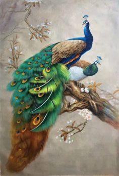 """Simple modern high quality Sitting-room Wall Home oil painting handpainted on canvas Art Decor""""Gorgeous peacock""""Unframed-29 by OilPaintingArt *Materials: Canvas *Brand new without frame *Size:90x120CM(35.4""""x47.2"""")-$305*Eco-friendly/Green product *MOQ: 1 Pieces *OEM designs and orders are welcome *Ideal for decoration purposes *Customized logos and packaging ways are welcomeif you want other sizes please contact me. There is no frame. Contact me if you need it framed! Tracking number will be…"""