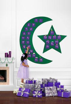 Ramadan Decorative Countdown Calendar for Children. $49.00, via Etsy.