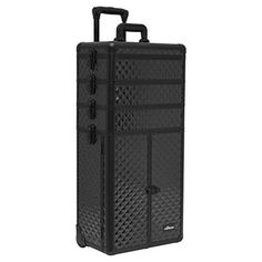 SUNRISE Makeup Case on Wheels 4 in 1 Professional Organizer I3365, 3 Stackable Trays and 4 Drawers, Locking with Mirror, Black Diamond * You can find more details by visiting the image link.