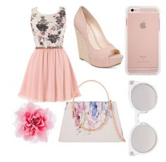 """""""Love pink"""" by maryoneal on Polyvore featuring Jessica Simpson, Kosha and Ted Baker"""