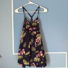 Hollister dress Blue with flowers, flowy dress. Hollister Dresses