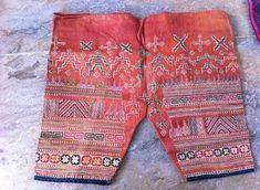 Cross-stitched and embroidered trousers by Fu Gusiye Buan. Photo by Bing Carino. Tribal Community, Filipino Culture, Tribal Women, Ikat, Ph, Weaving, Trousers, Group, Fashion