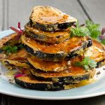 Crispy Spicy Fried Aubergines with Honey - Natural Sugar Substitute Recipes Acacia Honey, Food Substitutions, Sugar Substitute, Natural Sugar, Salmon Burgers, Clarks, Vegetarian Recipes, Spicy, Ethnic Recipes