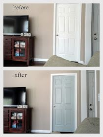Painting Interior Doors Gray: How I Did It | Painting interior ...