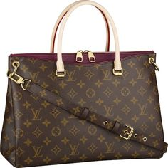 LV Monogram Pallas. measures 13.4″ x 10.2″ x 4.7″ and comes in two colors Aurore and Quetsche with the addition of Havane and Safron come September 2013. For January 2014, a Black version is released. Pallas is available exclusively at Louis Vuitton stores for US$2350.