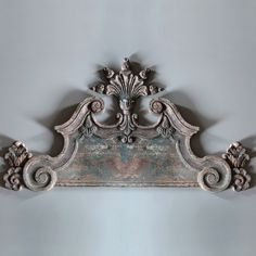 """Huge Architectural Wall Crown. Made of estate stone. Dimensions: 60"""" x 33.25"""" H. $288."""