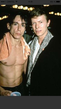 #david Bowie #iggy pop