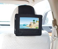 TFY Car Headrest Mount for Swivel & Flip Style Portable DVD Player-7 Inch by TFY. $17.99. This Portable DVD Player Car Headrest Mount is designed for Swivel & Flip style Portable DVD Players.If your player's LCD screen can swivel and flip to a tablet style, it should fit in this Car Headrest Mount.Please look at the listing photos and measurements carefully to determine if the LCD screen on your player will line up correctly with the opening of the Car Headrest Mount.
