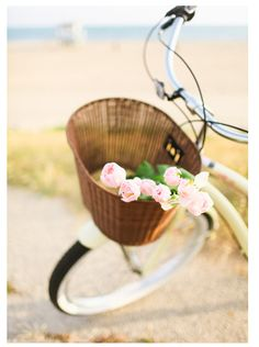 Bike and flower basket at the beach.....