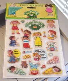 CPK puffy stickers. Omg! Had these!!