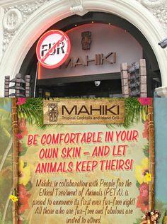 A nightclub in London, Mahiki, from now on prohibits the entry of people wearing animal fur. | Uma casa noturna em Londres, a Mahiki, a partir de agora proibe a entrada de pessoas usando peles de animais.