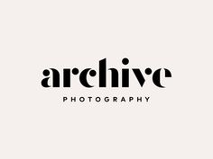 archive photography ; #branding #logo